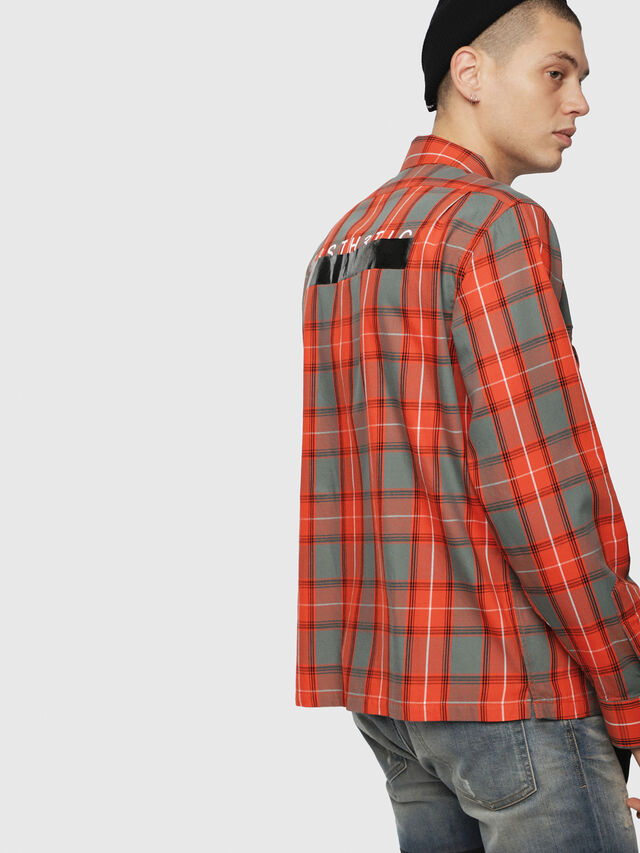 Diesel - S-TAKESHI, Rosso - Camicie - Image 2