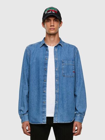 Diesel - D-BILLY, Blu Chiaro - Camicie in Denim - Image 4