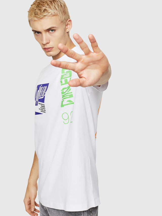 Diesel - T-JUST-Y20, Bianco - T-Shirts - Image 4
