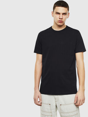 T-RABEN-POCKET, Nero - T-Shirts