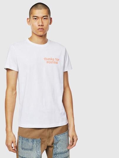 Diesel - T-DIEGO-J20, Bianco - T-Shirts - Image 1