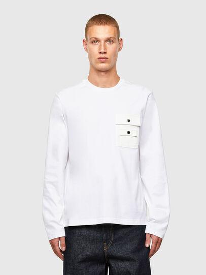 Diesel - T-TASK-LS, Bianco - T-Shirts - Image 1