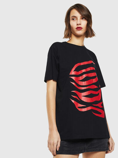 Diesel - T-JUST-J9, Nero/Rosso - T-Shirts - Image 2