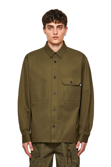 Overshirt Green Label in twill
