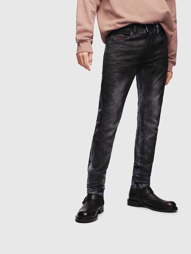 Diesel - Thommer JoggJeans 086AZ, Nero/Grigio scuro - Jeans - Image 1