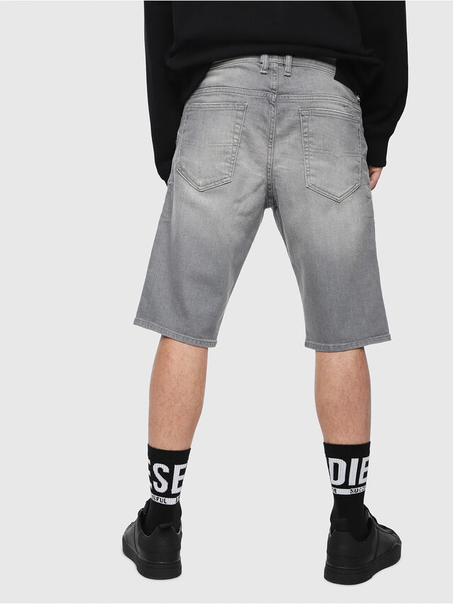 Diesel THOSHORT, Grigio Jeans - Shorts - Image 2