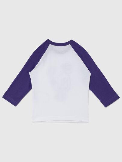 Diesel - TBALYB-FL, Bianco/Viola - T-shirts e Tops - Image 2