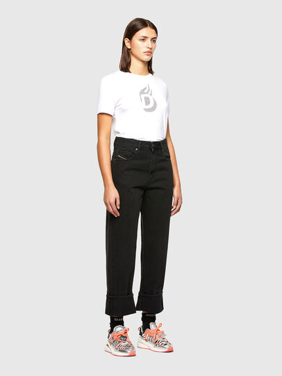 Diesel - T-SILY-R1, Bianco - T-Shirts - Image 5