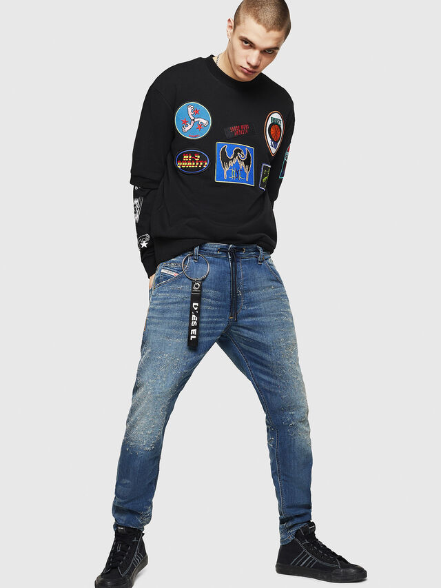 Diesel - Krooley JoggJeans 069HG, Blu medio - Jeans - Image 6