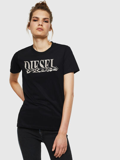 Diesel - T-SILY-WN, Nero - T-Shirts - Image 1