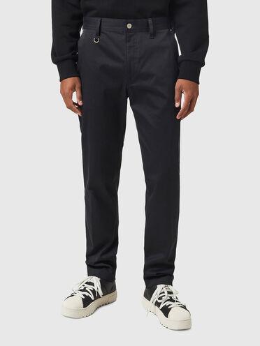 Pantaloni chino in twill stretch spazzolato