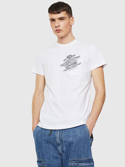 Diesel - T-WORKY-S1, Bianco - T-Shirts - Image 1