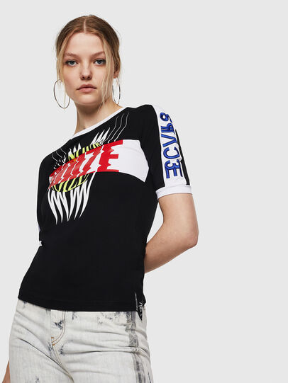 Diesel - T-HEIA-A, Nero - T-Shirts - Image 3