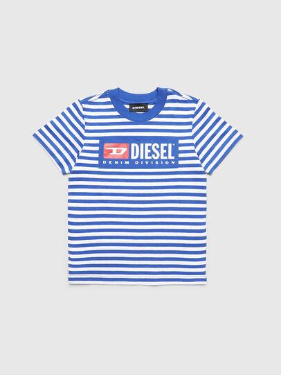 Diesel - TVIKB-R, Blu/Bianco - T-shirts e Tops - Image 1