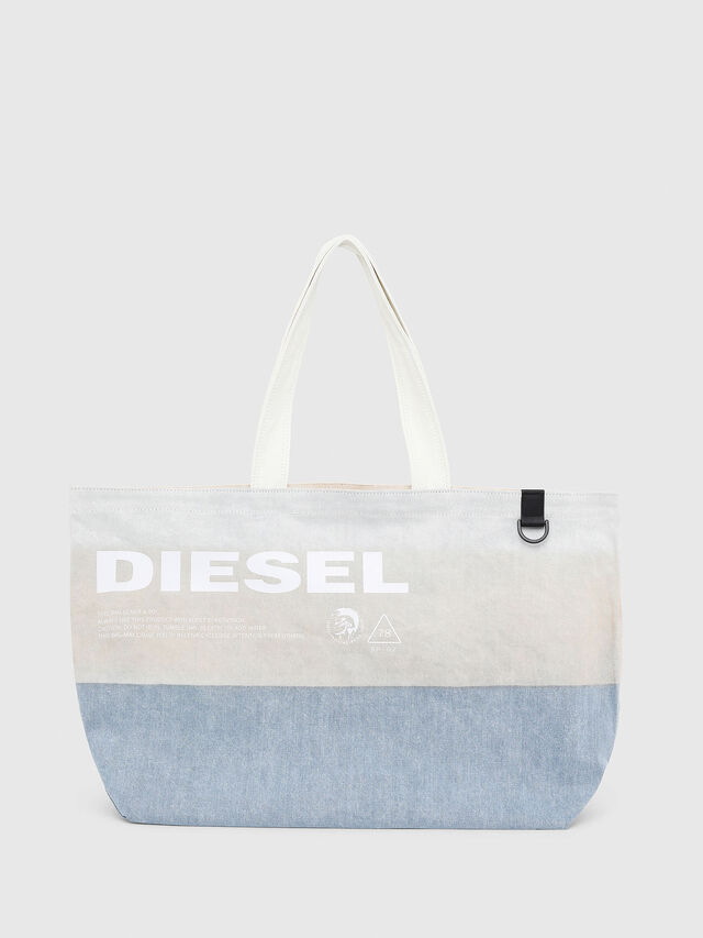 Diesel - D-THISBAG SHOPPER L, Bianco/Blu - Shopper e Borse a Spalla - Image 1