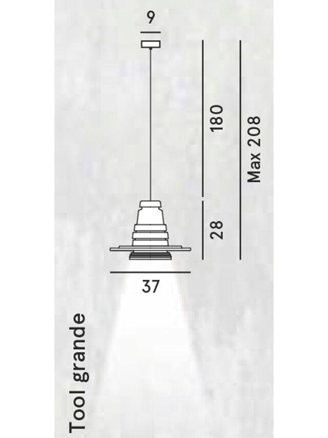 Diesel - TOOL GRANDE SOSP, Nero - Lampade a Sospensione - Image 2