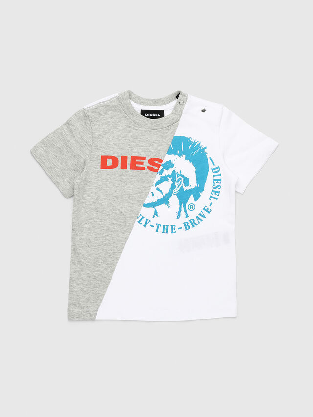 Diesel - TICAB, Bianco/Grigio - T-shirts e Tops - Image 1