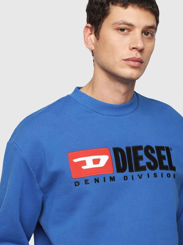 Diesel - S-CREW-DIVISION, Blu Brillante - Felpe - Image 3