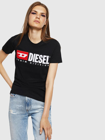 Diesel - T-SILY-DIVISION, Nero - T-Shirts - Image 1