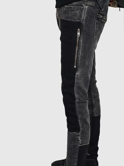 Diesel - D-Amny 0890T, Nero/Grigio scuro - Jeans - Image 5