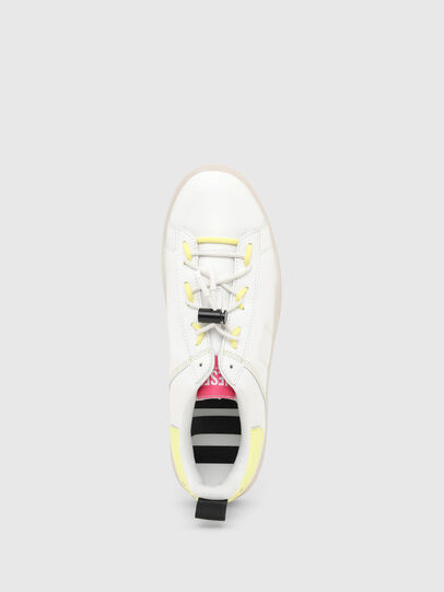 Diesel - S-CLEVER SO C, Bianco/Giallo - Sneakers - Image 5