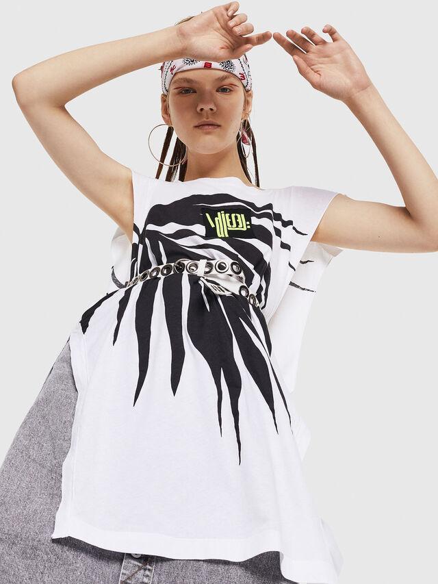 Diesel - T-DESY-B, Bianco/Nero - T-Shirts - Image 4