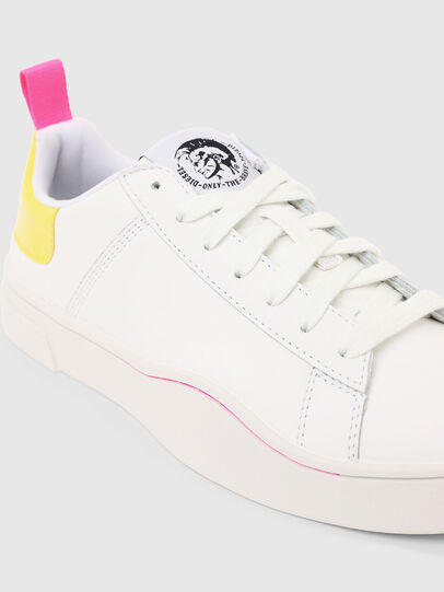 Diesel - S-CLEVER LOW LACE W, Bianco/Giallo - Sneakers - Image 4