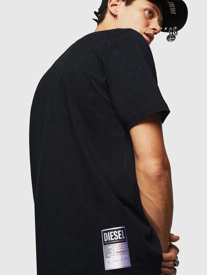 Diesel - T-JUST-B23, Nero - T-Shirts - Image 6