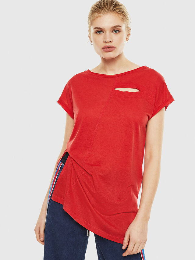 Diesel - T-DIMMY, Rosso Fuoco - Tops - Image 1