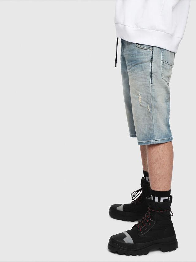 Diesel - D-KROOSHORT-T, Blu Chiaro - Shorts - Image 3