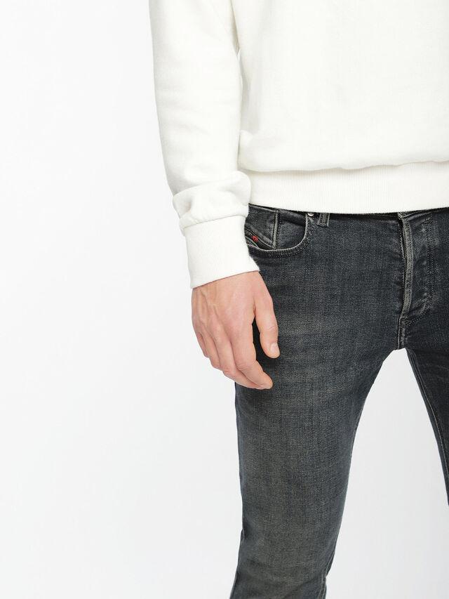 Diesel - Sleenker 084VQ, Nero/Grigio scuro - Jeans - Image 4