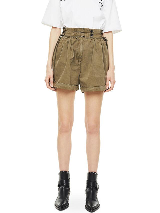 Diesel - SIMONY, Verde Militare - Shorts - Image 1
