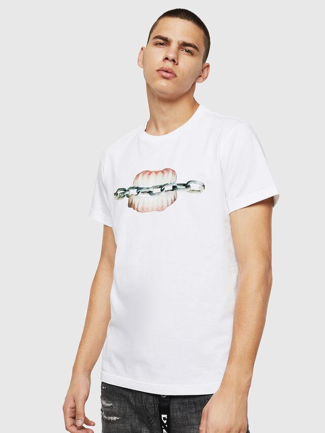 Diesel - T-DIEGO-B10, Bianco - T-Shirts - Image 1