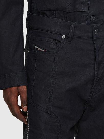 Diesel - D-VIDER JoggJeans® 0DDAX, Nero/Grigio scuro - Jeans - Image 4