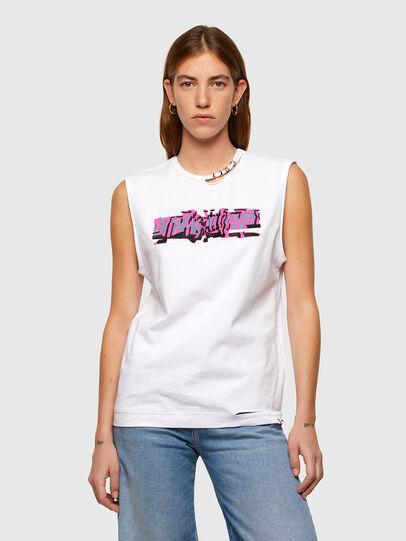 Diesel - T-BULL, Bianco - T-Shirts - Image 1