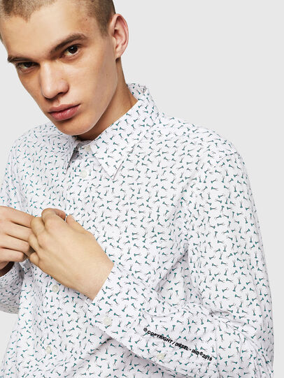 Diesel - S-VEN-NAIL, Bianco - Camicie - Image 3