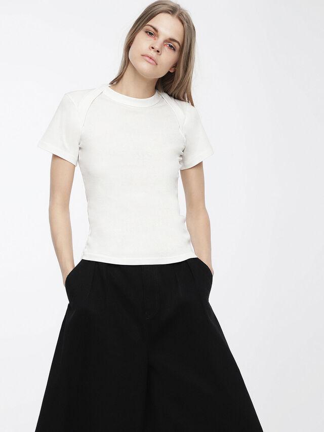 Diesel - T-SALI-A, Bianco - T-Shirts - Image 1
