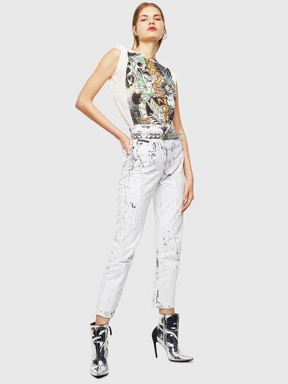 Diesel - T-DARIA-YB, Bianco - T-Shirts - Image 5