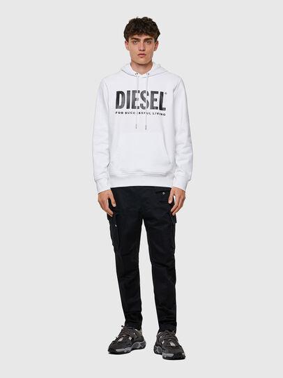 Diesel - S-GIRK-HOOD-ECOLOGO, Bianco - Felpe - Image 4