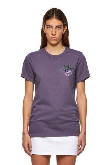 T-shirt tinta a pigmenti con stampa