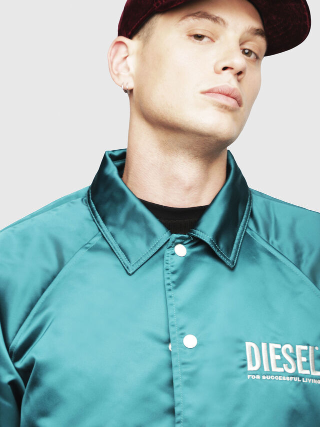 Diesel - J-AKIO, Verde Scuro - Giacche - Image 3