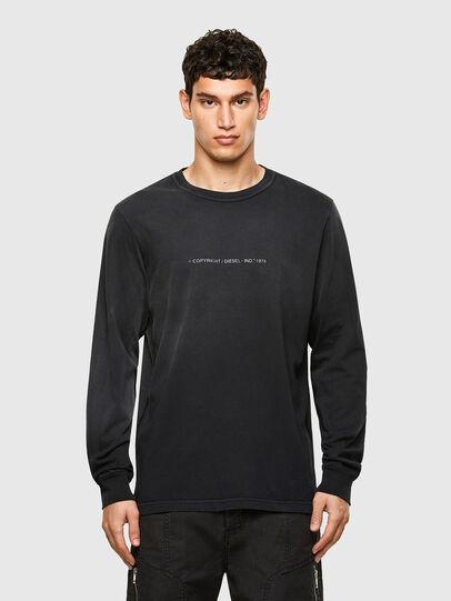 Diesel - T-JUBIND-LS, Nero - T-Shirts - Image 1