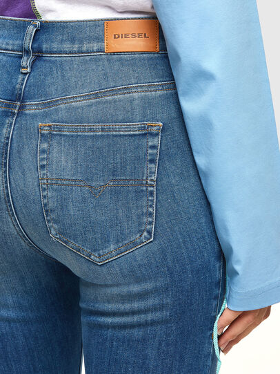 Diesel - D-Roisin High 009PE, Blu medio - Jeans - Image 4