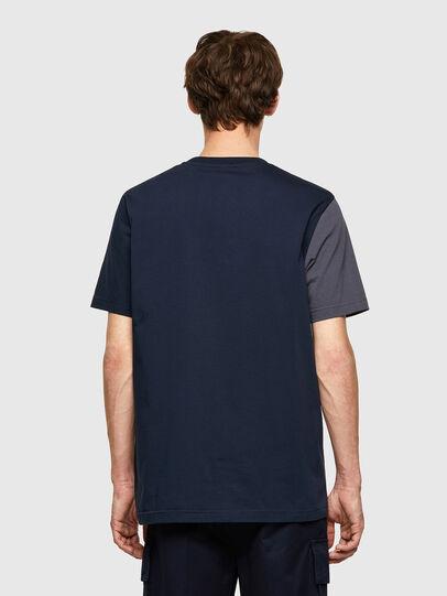 Diesel - T-RISEN-B1, Blu Scuro - T-Shirts - Image 2