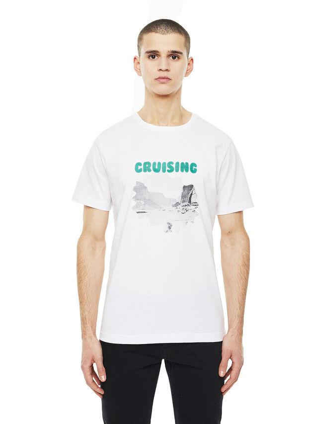 Diesel - TY-CRUISING, Bianco - T-Shirts - Image 1