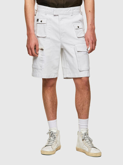 Diesel - D-CYAN-S-SP1, Bianco - Shorts - Image 1