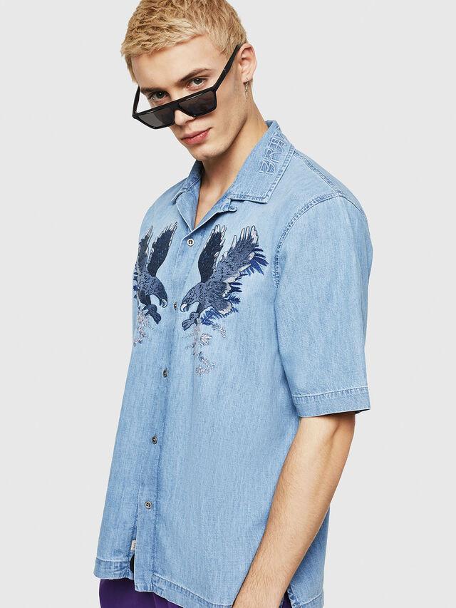 Diesel - D-RASHI, Blu Jeans - Camicie in Denim - Image 1