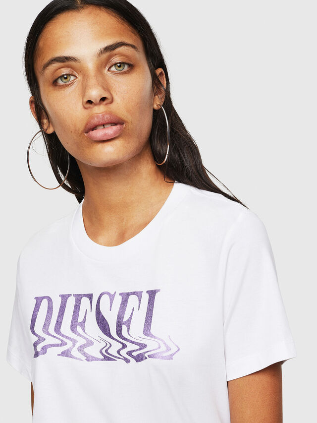 Diesel - T-SILY-WN, Bianco/Rosa - T-Shirts - Image 3