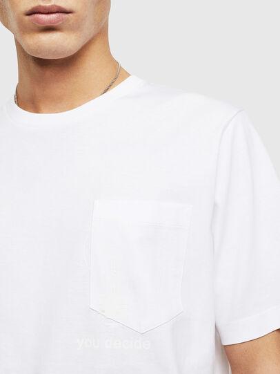 Diesel - T-JUST-POCKET-T17, Bianco - T-Shirts - Image 3
