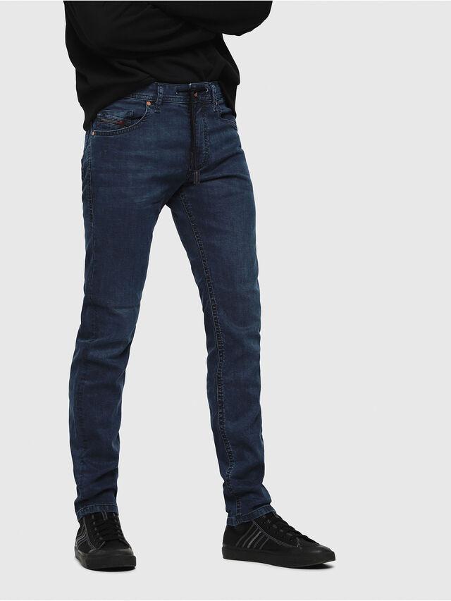 Diesel - Thommer JoggJeans 0688J, Blu medio - Jeans - Image 1